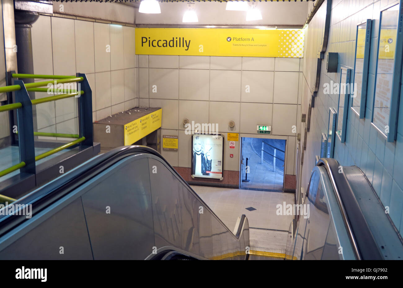Piccadilly Metrolink station, Manchester,  North West England, UK M1 2QF - Stock Image