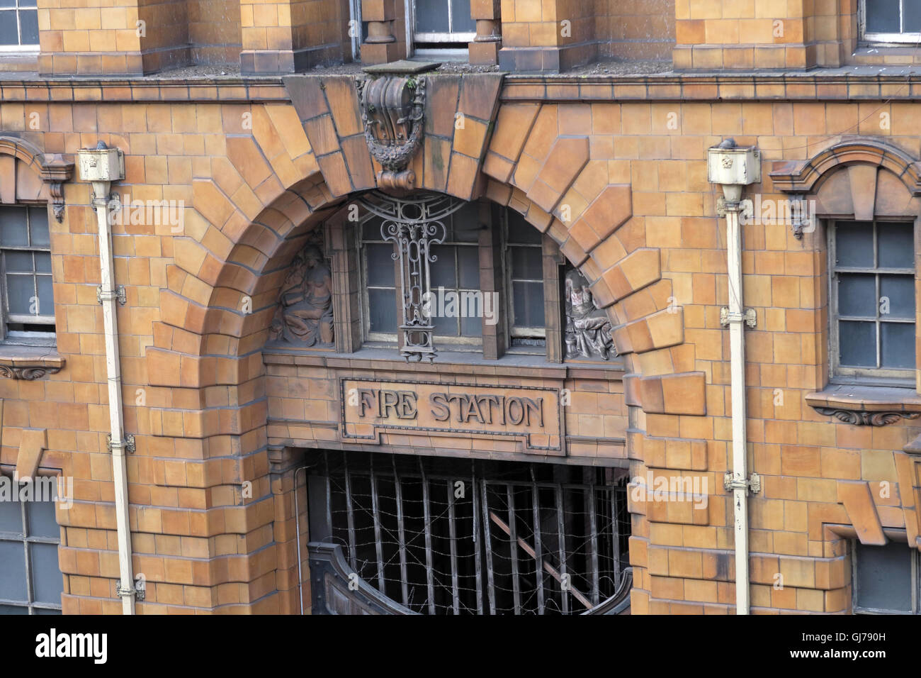 Entrance 50 London Road Fire Station, Manchester, M1 2PH - Stock Image