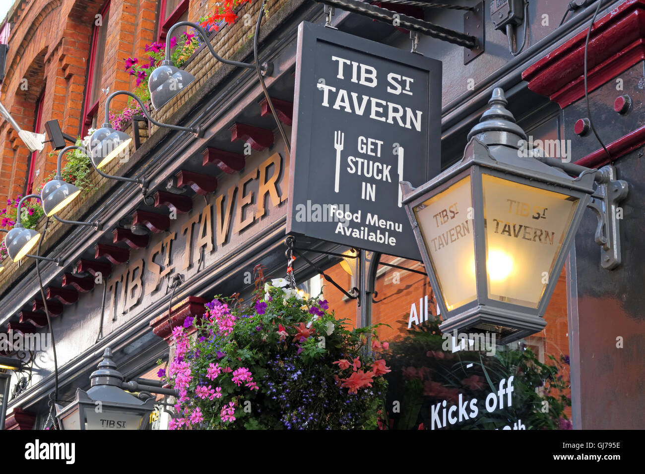 The Tib St Tavern, Northern Quarter, 74 Tib St, Manchester, North West England, UK,  M4 1LG - Stock Image