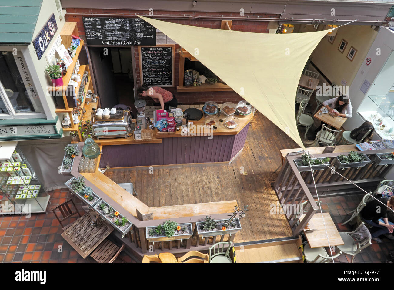 Cafe at Manchester Craft and Design Centre, 17 Oak St, Manchester, UK M4 5JD - Stock Image