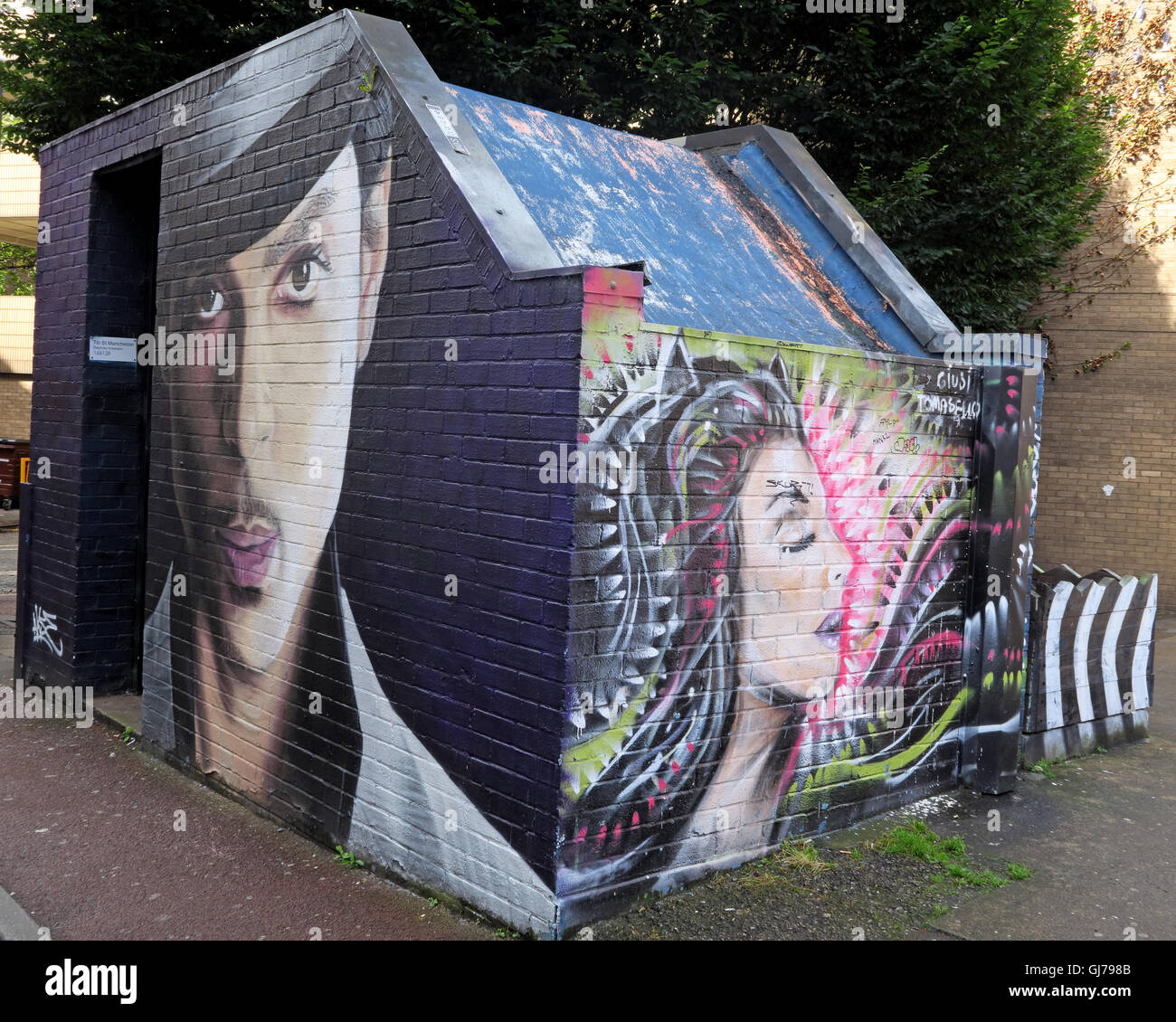 Northern Quarter Artwork, NQ, Manchester, North West England, UK, M1 1JR - Stock Image