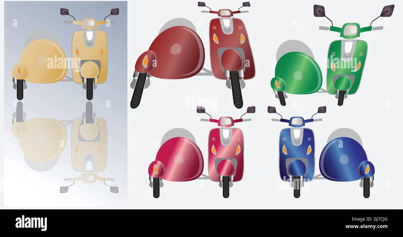 Vespa With Sidecar Stock Photos & Vespa With Sidecar Stock
