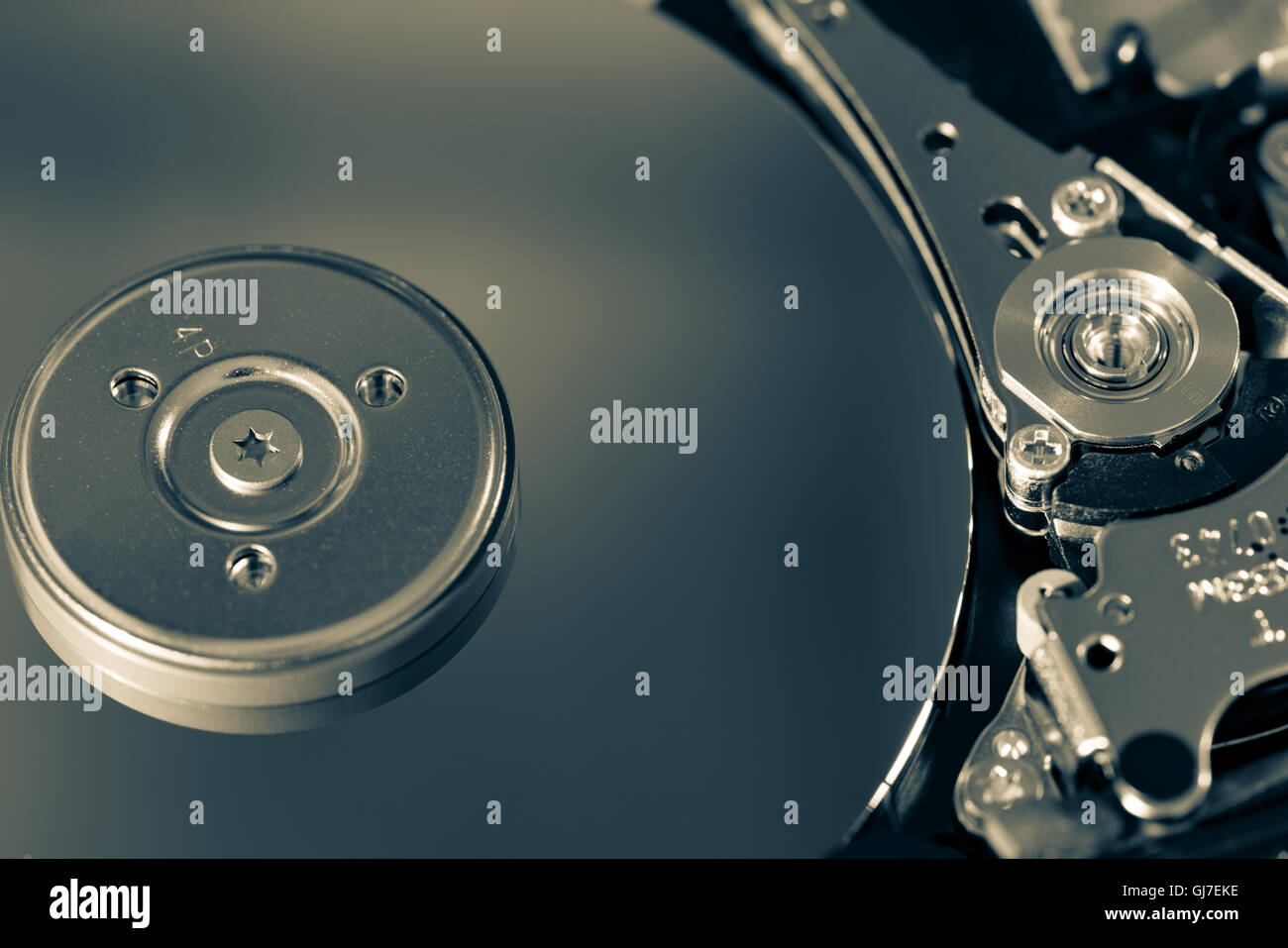 Disassembled hdd - Stock Image