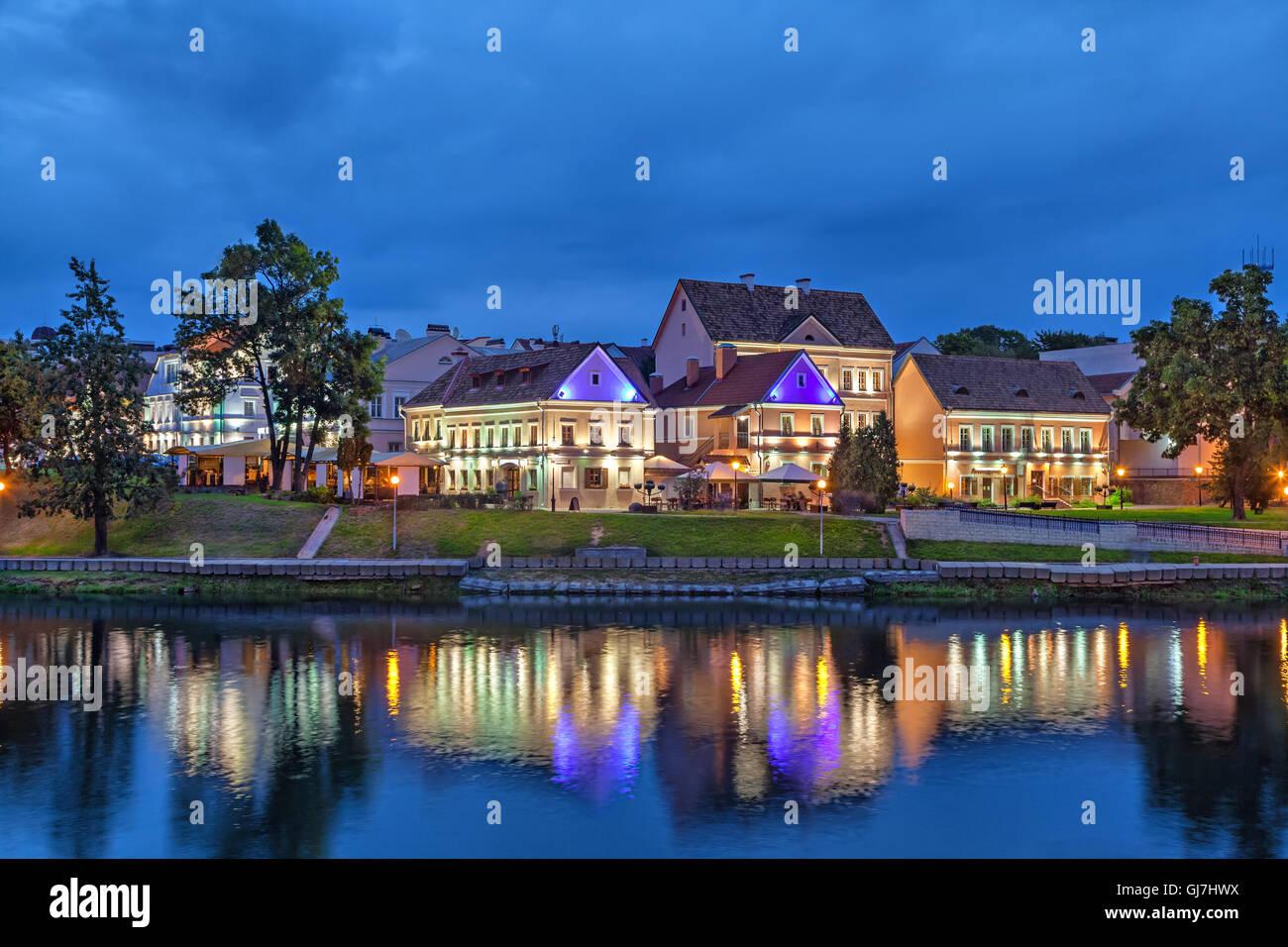 Trinity Hill (Trojeckaje Pradmiescie) -  the oldest district of Minsk, Belarus - Stock Image