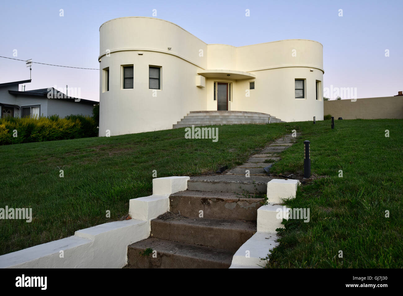 art deco home in glen innes new england nsw new south wales stock
