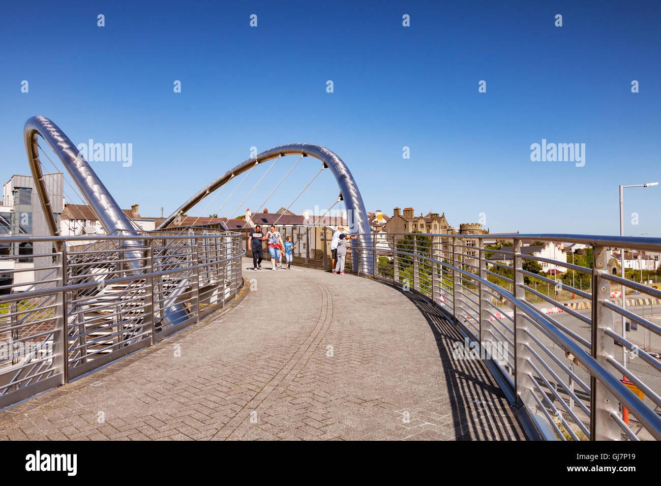 Celtic Gateway Bridge, Holyhead, Anglesey, Wales, UK - Stock Image