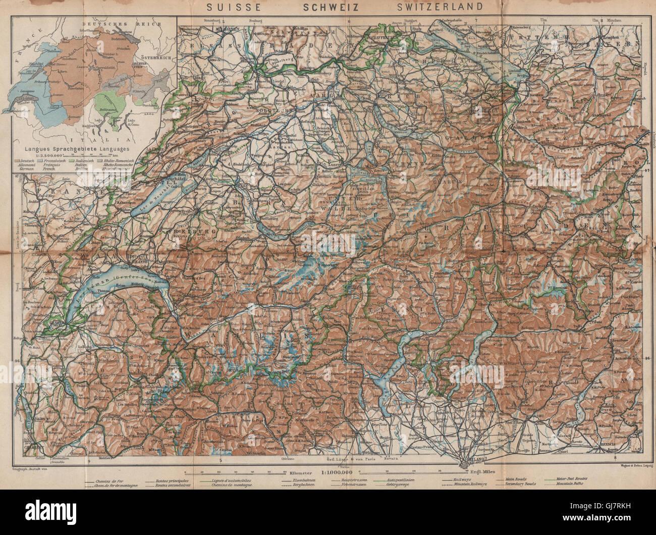 Able Thuner See Gantrisch Spiez Frutigen Oberwil 1920 Map Simme/kander Valleys