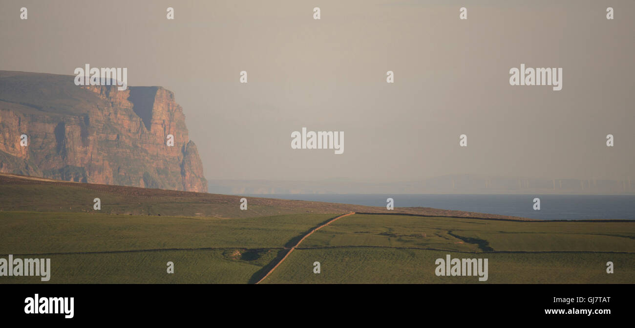 Hoy cliffs and Caithness coast - Stock Image