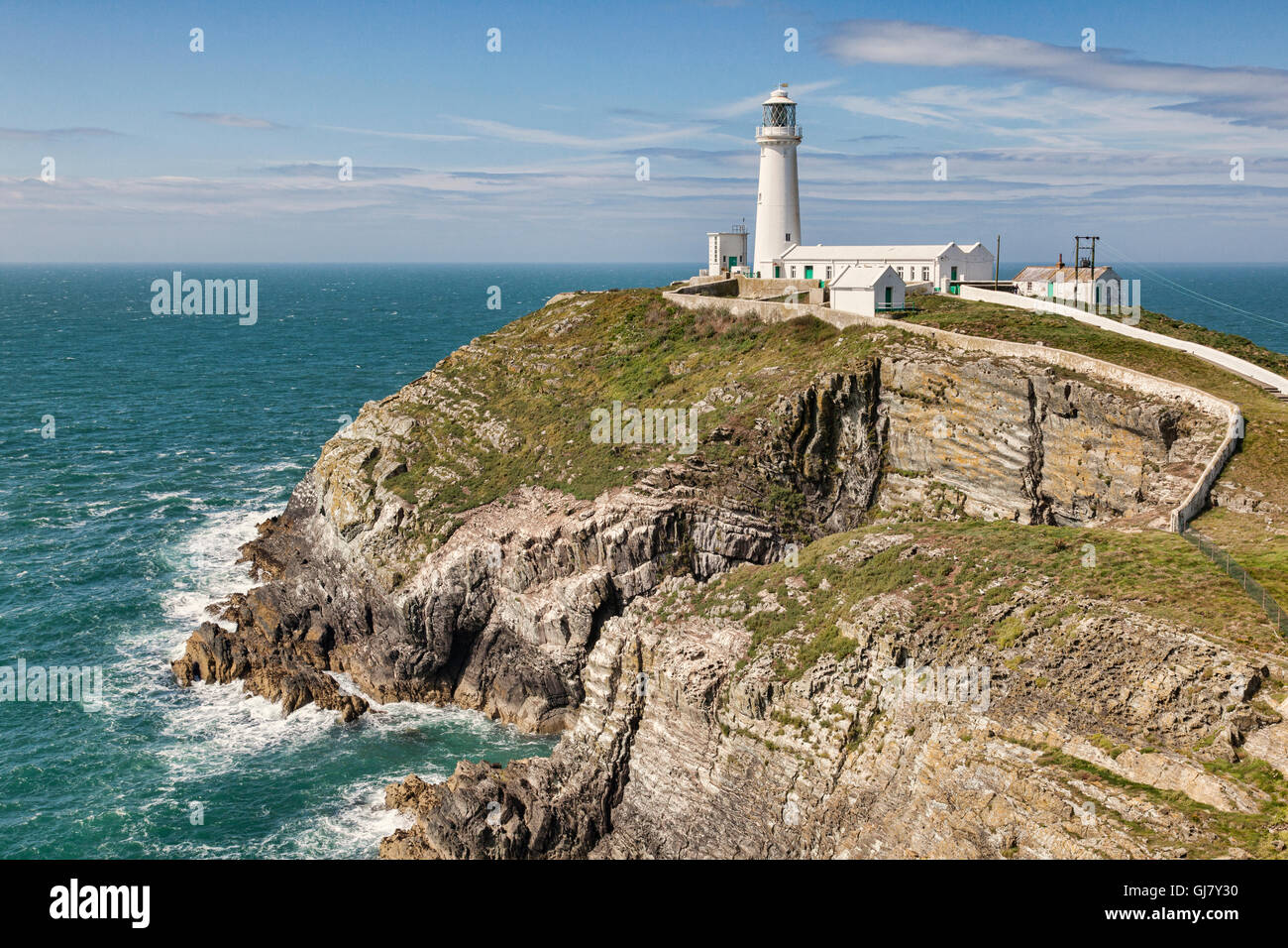South Stack Lighthouse, Anglesey, Wales, UK - Stock Image