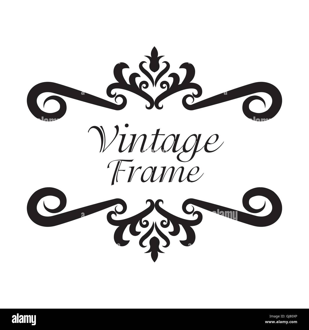 Vintage frame ornament icon - Stock Image
