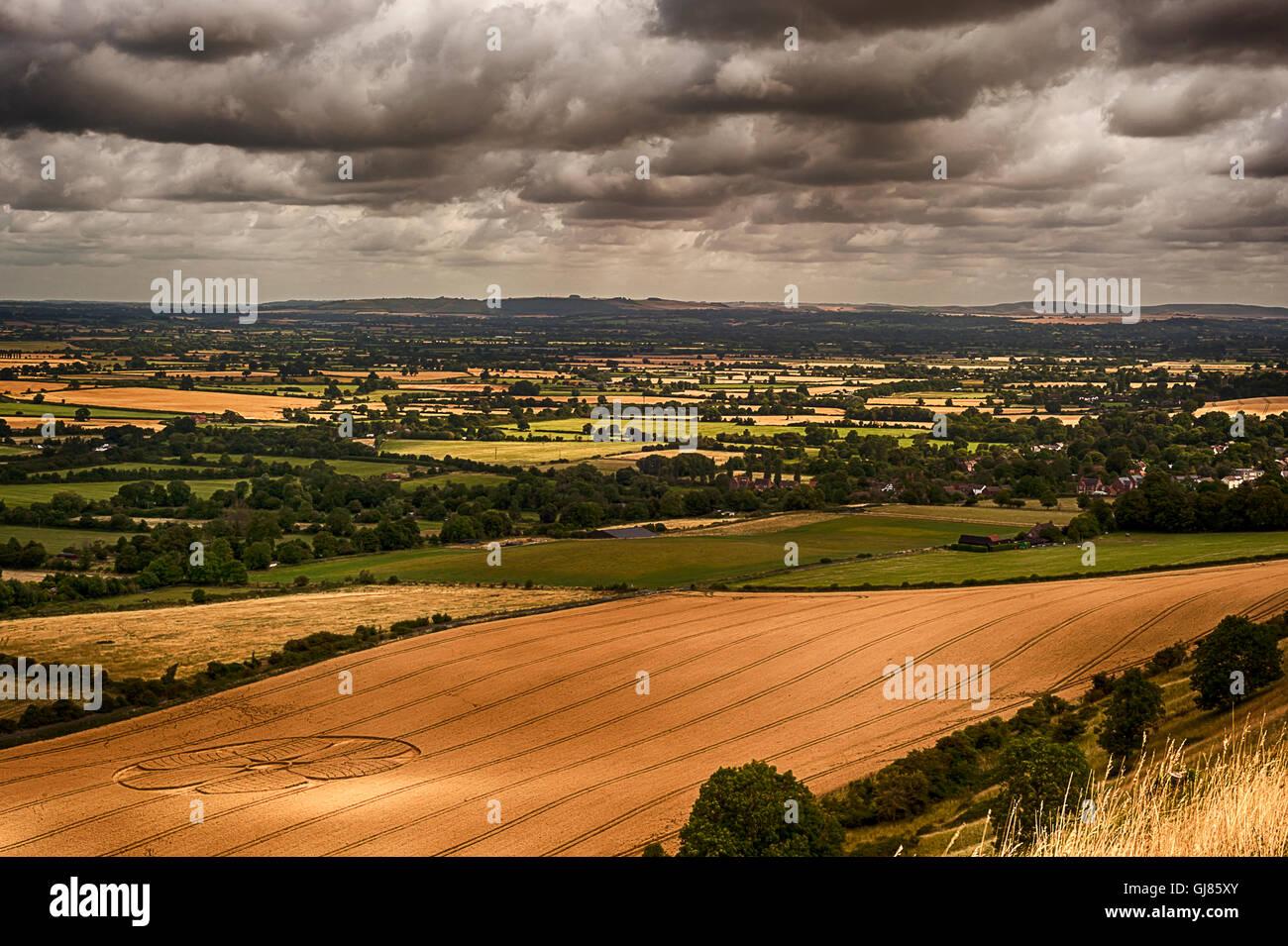 Crop Circles - White Horse Westbury Stock Photo