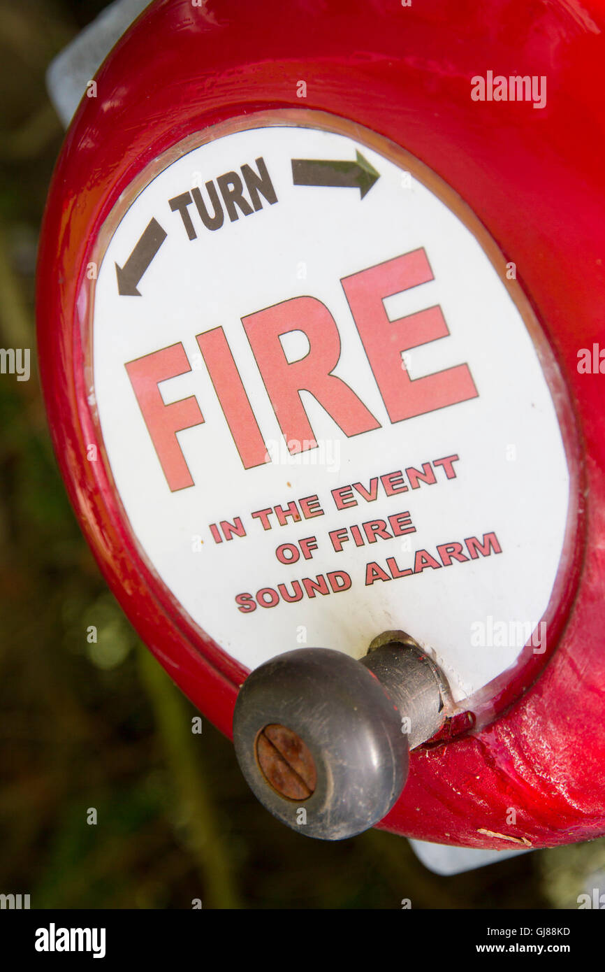 Fire Alarm Bell - Stock Image