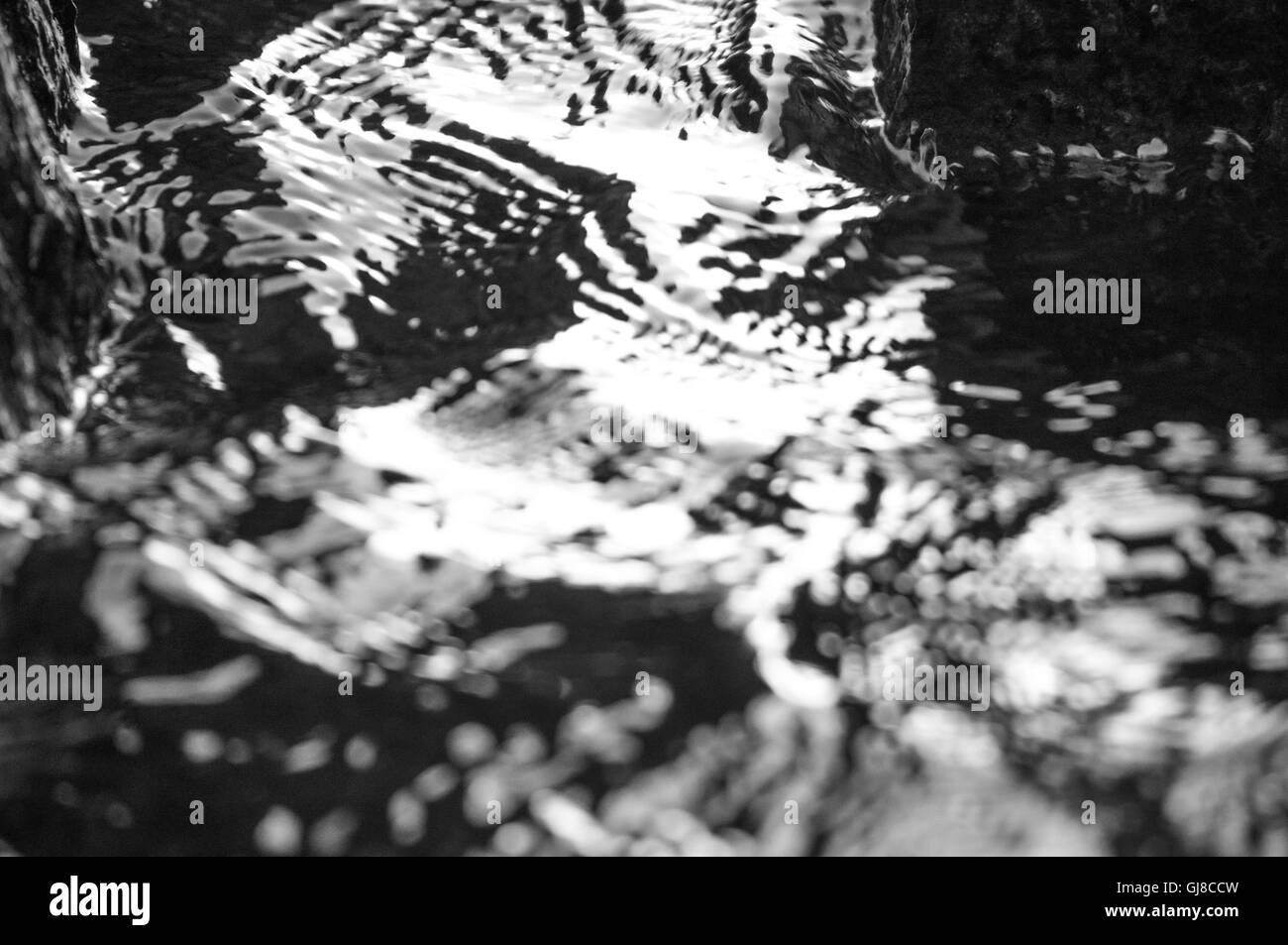 Water rippling along the shore. - Stock Image