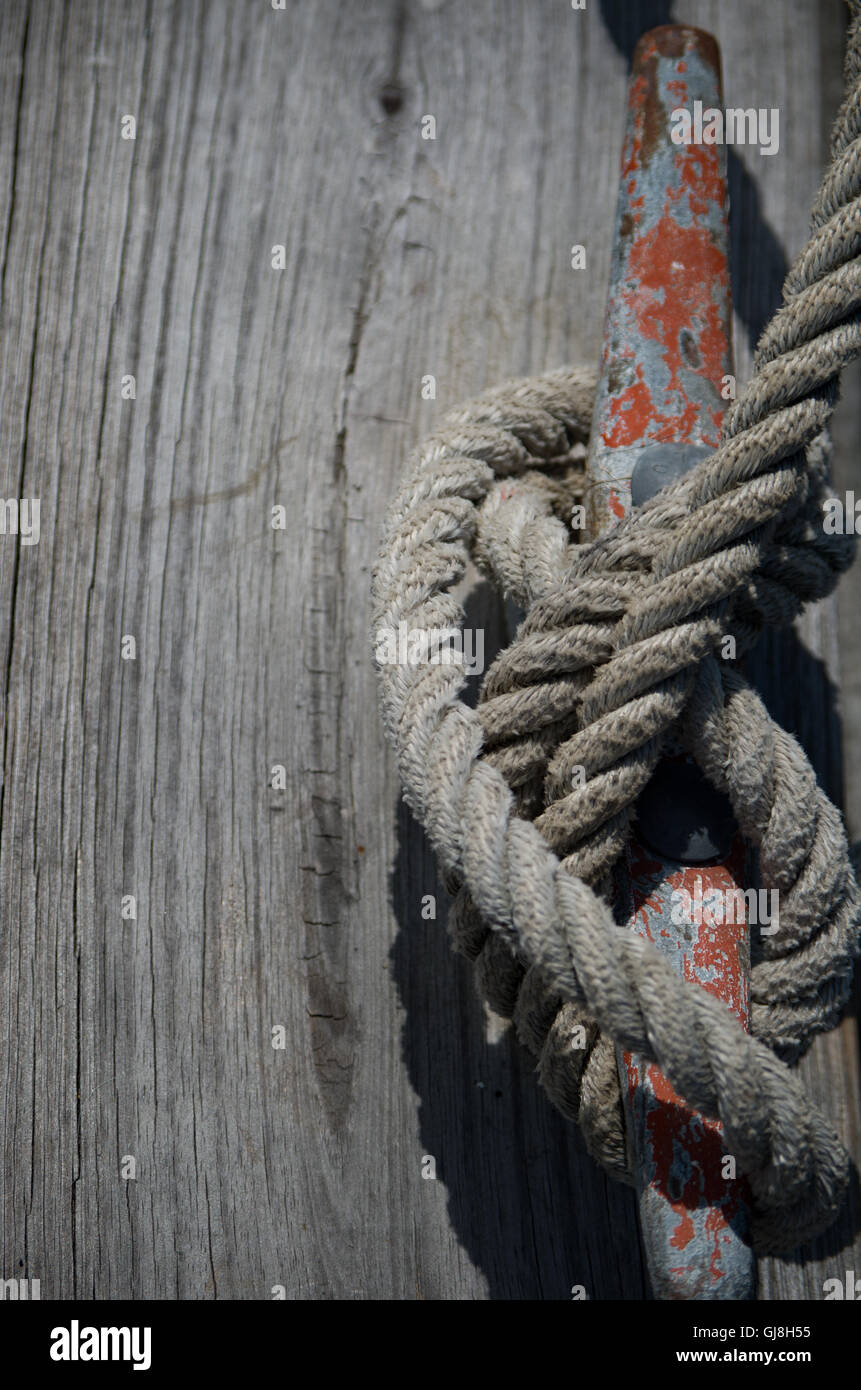 Rope Tied - Stock Image