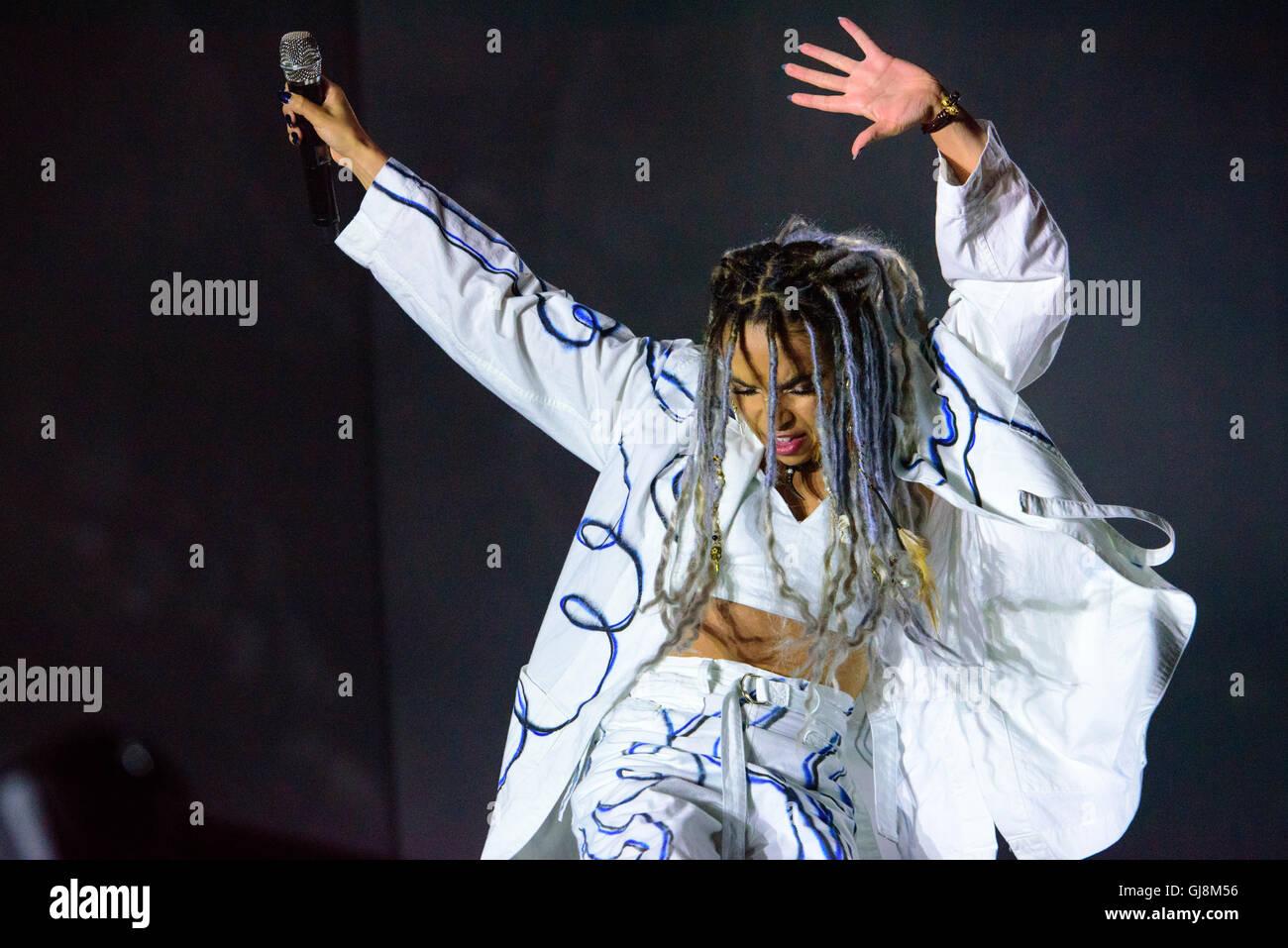 Helsinki, Finland. August 13th, 2016. FKA Twigs performing at Flow Festival, Helsinki, Finland. Now in it's - Stock Image