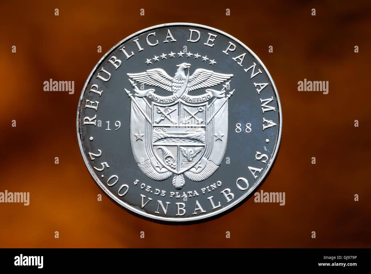 republika de panama, mumismatic, 1988, 25.00 vnbalboas, - Stock Image