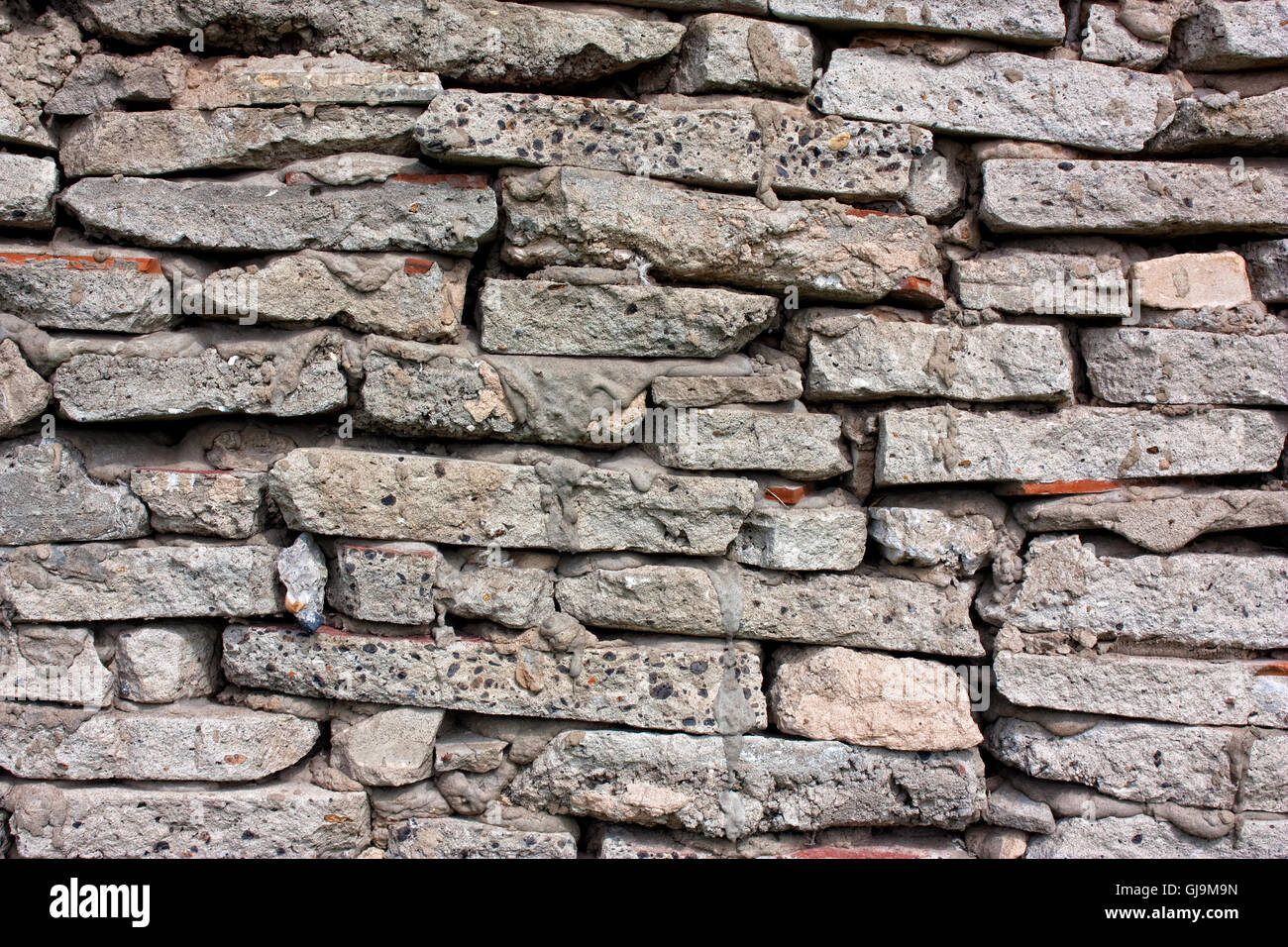 wall of stone - Stock Image