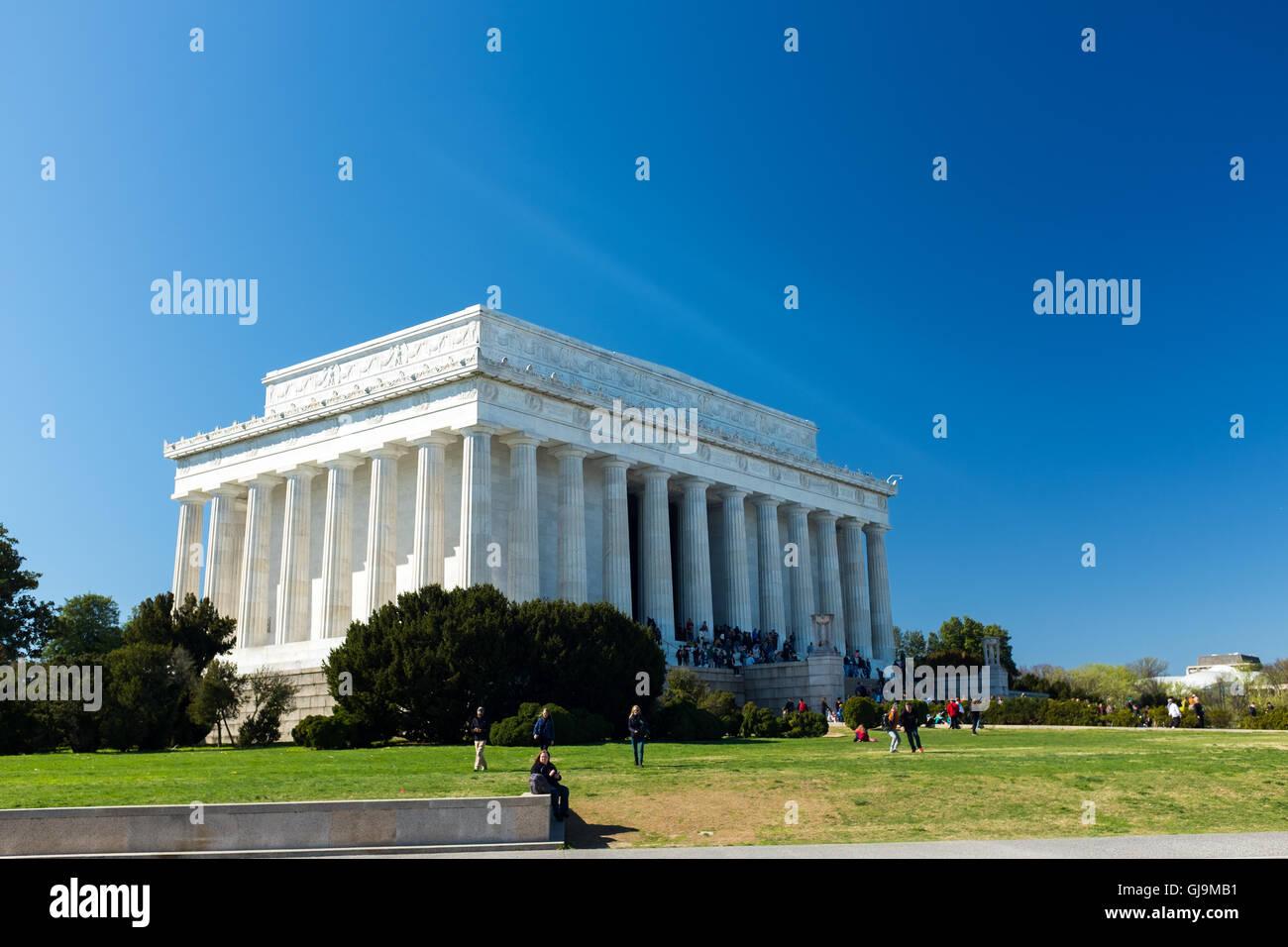 Washington DC USA Lincoln Memorial Stock Photo