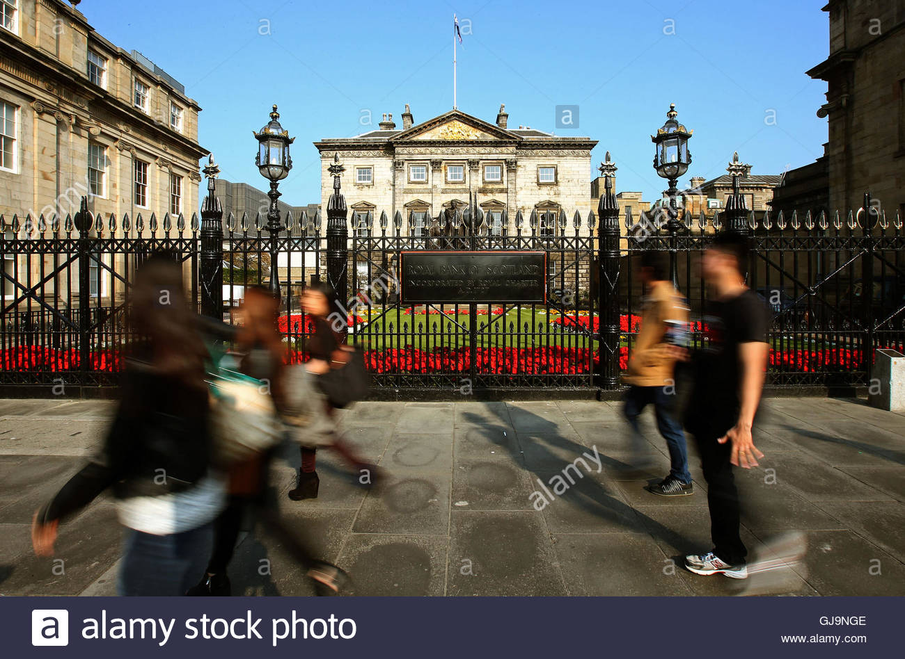 File photo dated 11/9/2014 of the Scottish head office of the Royal Bank of Scotland (RBS) at St Andrew Square in - Stock Image
