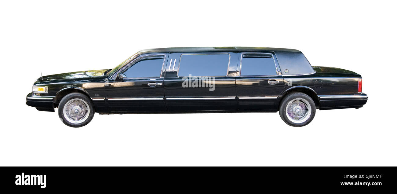 an old american limousine - Stock Image