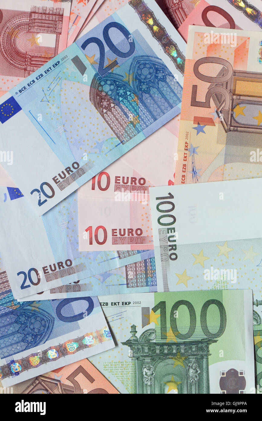European Union Currency - Stock Image