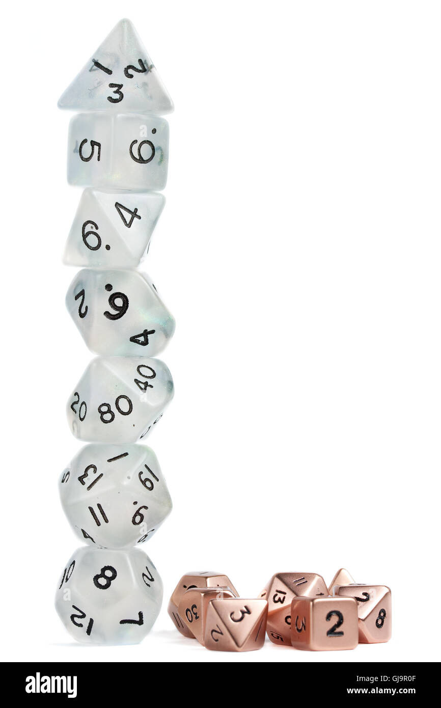 Polyhedron Dice Tower - Stock Image