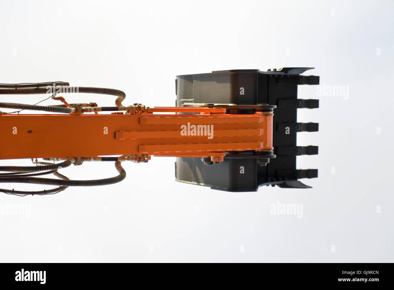 excavator's shovel - Stock Image