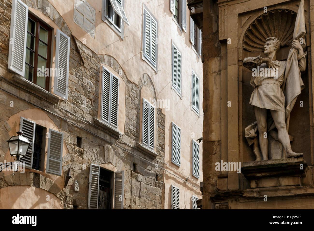Statue of Michele di Lando, Loggia del Mercato Nuovo, Florence - Stock Image