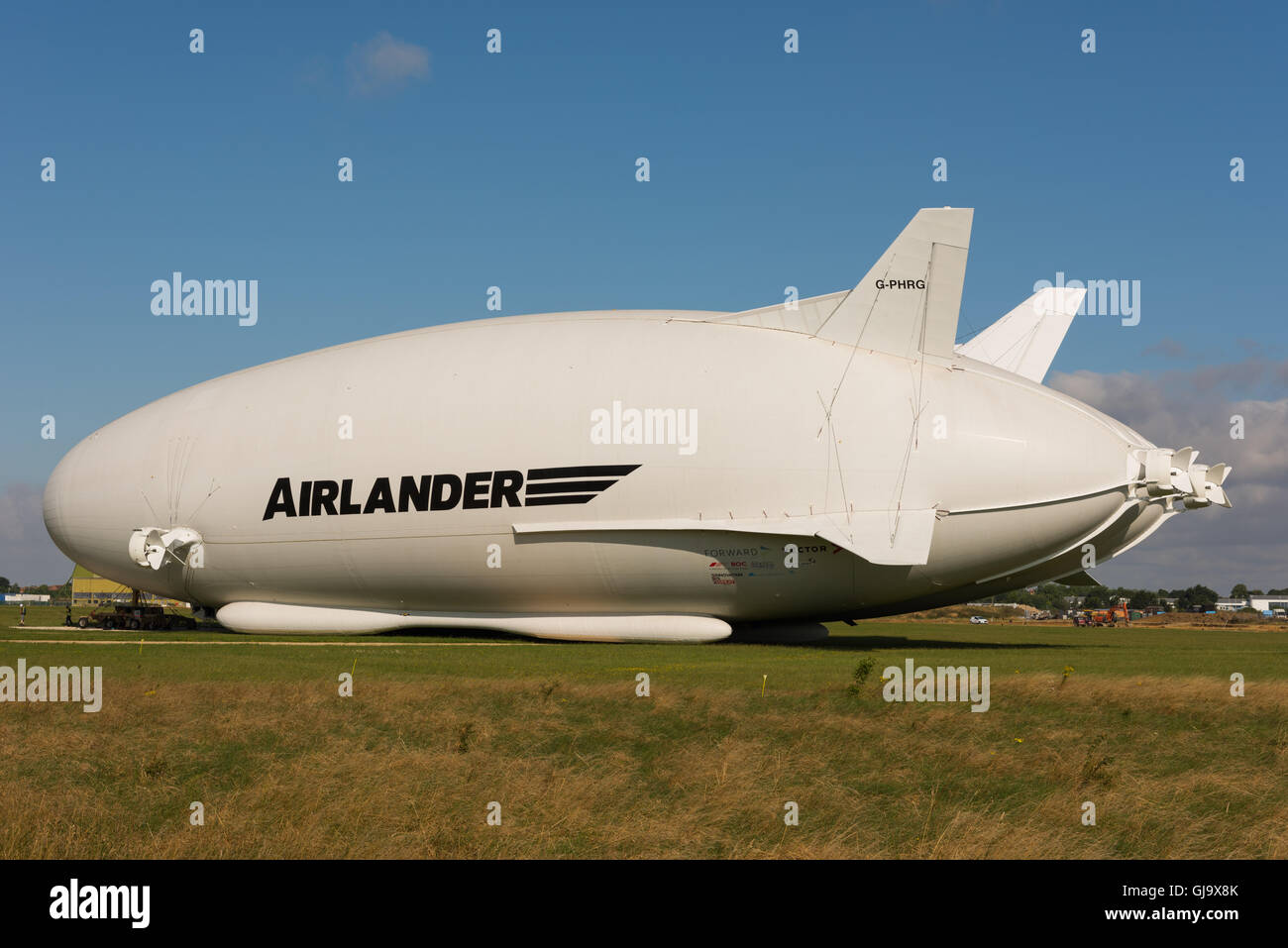Airlander 10, world's largest aircraft at Cardington Hanagars, Bedfordshire, UK Stock Photo