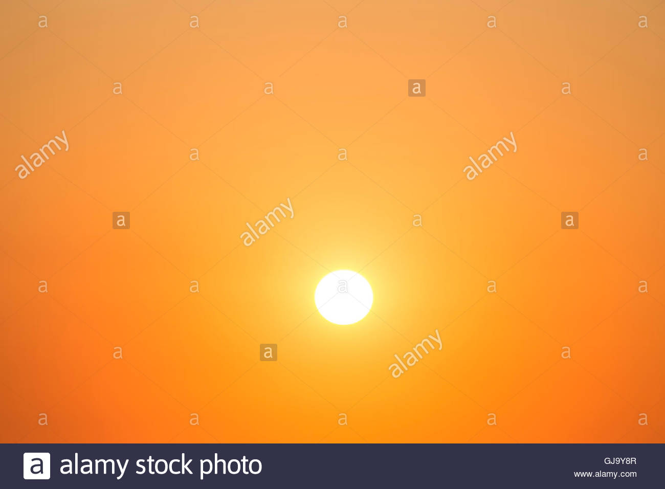 Bright sun on the sky - Stock Image
