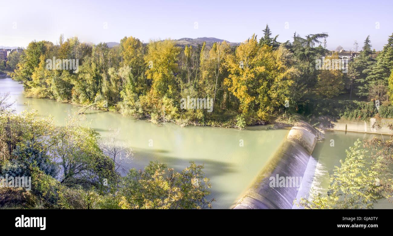 Fiume Reno - Bologna  - Casalecchio di Reno - Stock Image