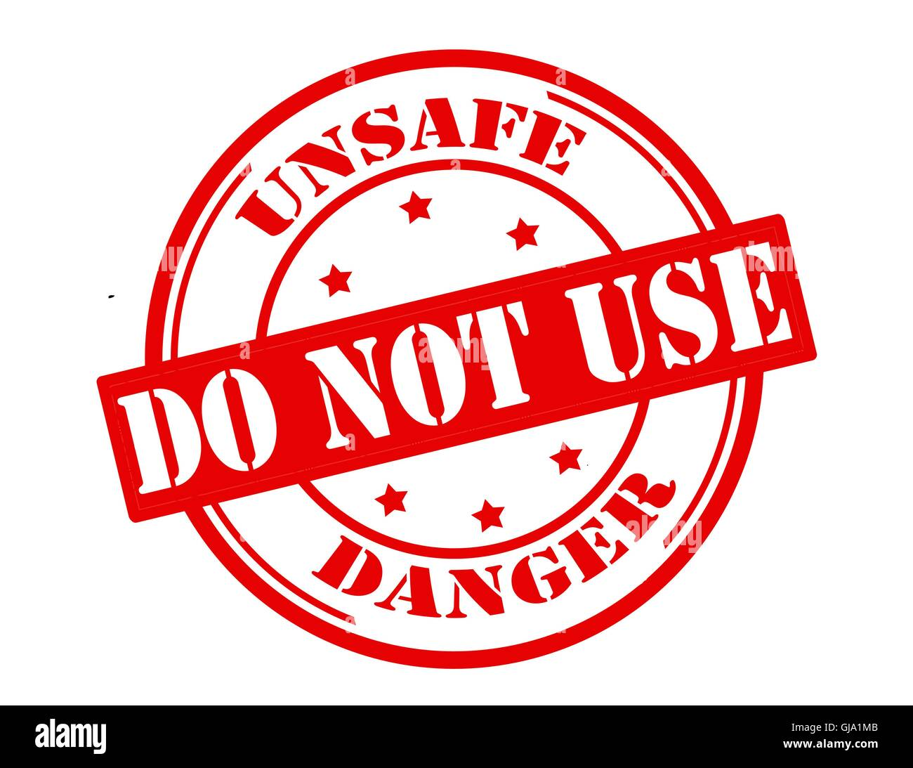 Unsafe do not use - Stock Image