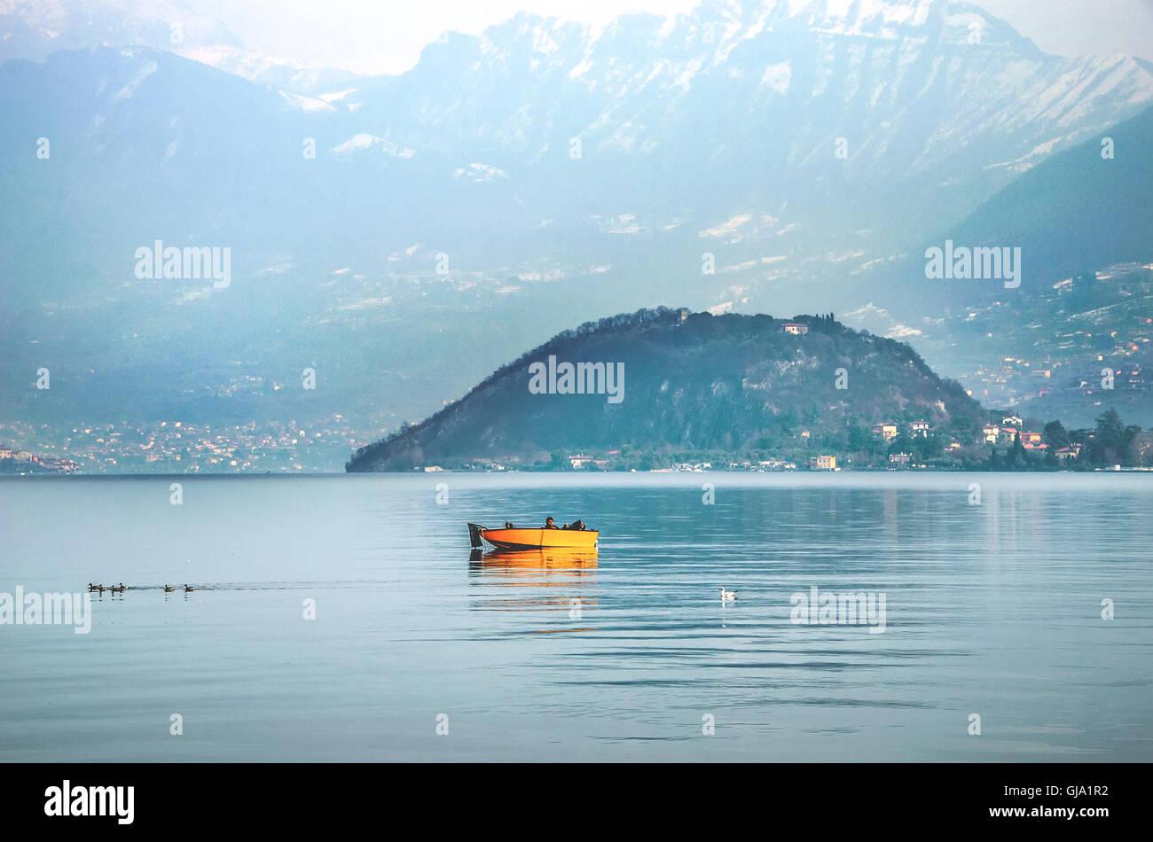 lago d'iseo - Stock Image