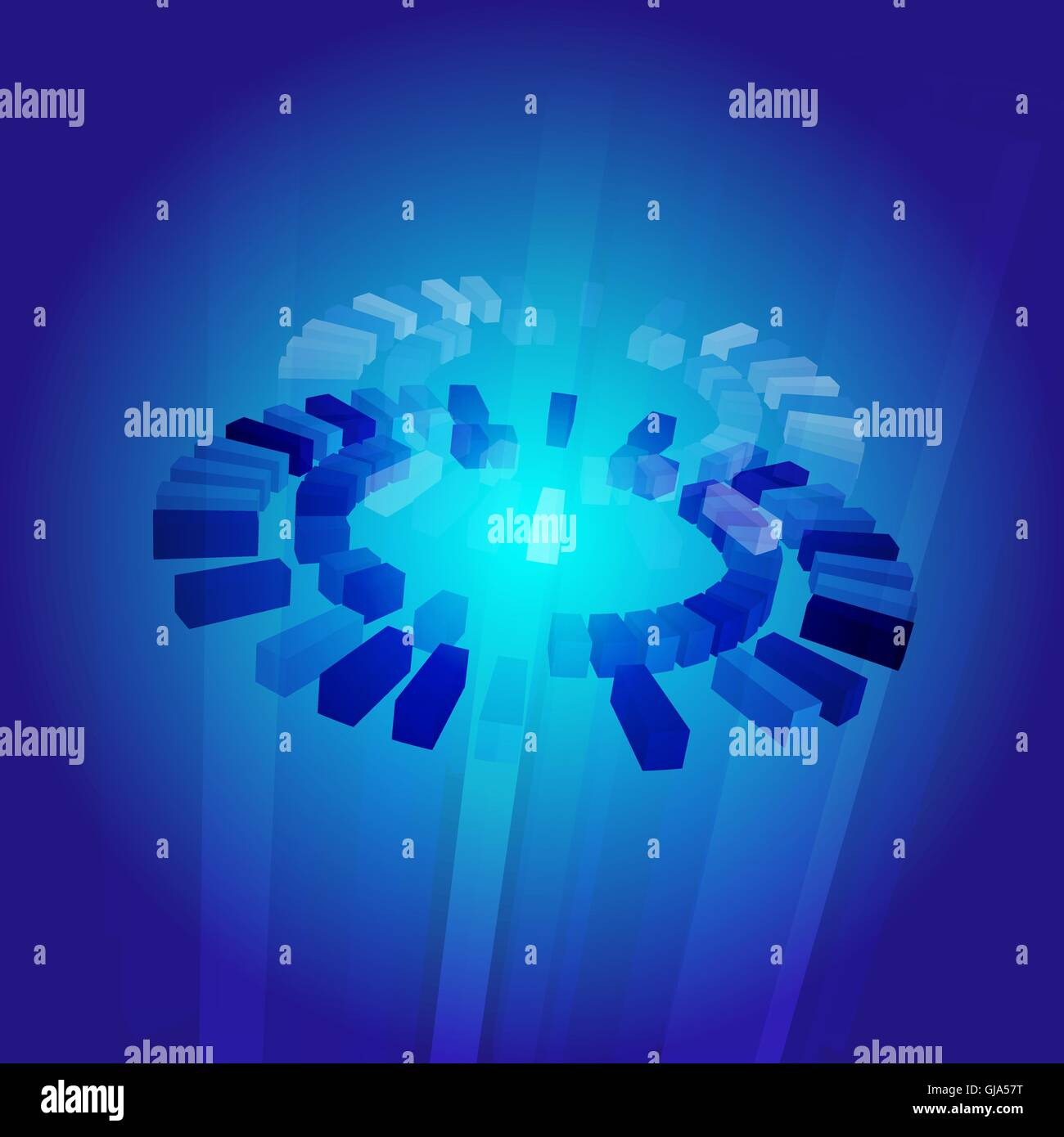 Abstract blue core illustration - Stock Vector