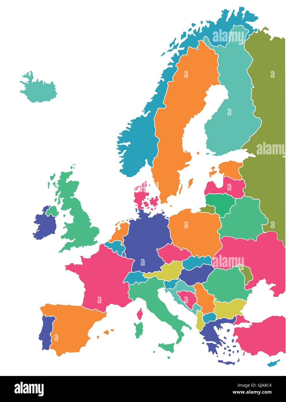 European map - Stock Vector