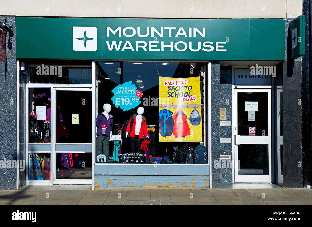 Branch of Mountain Warehouse outdoor shop, England UK - Stock Image