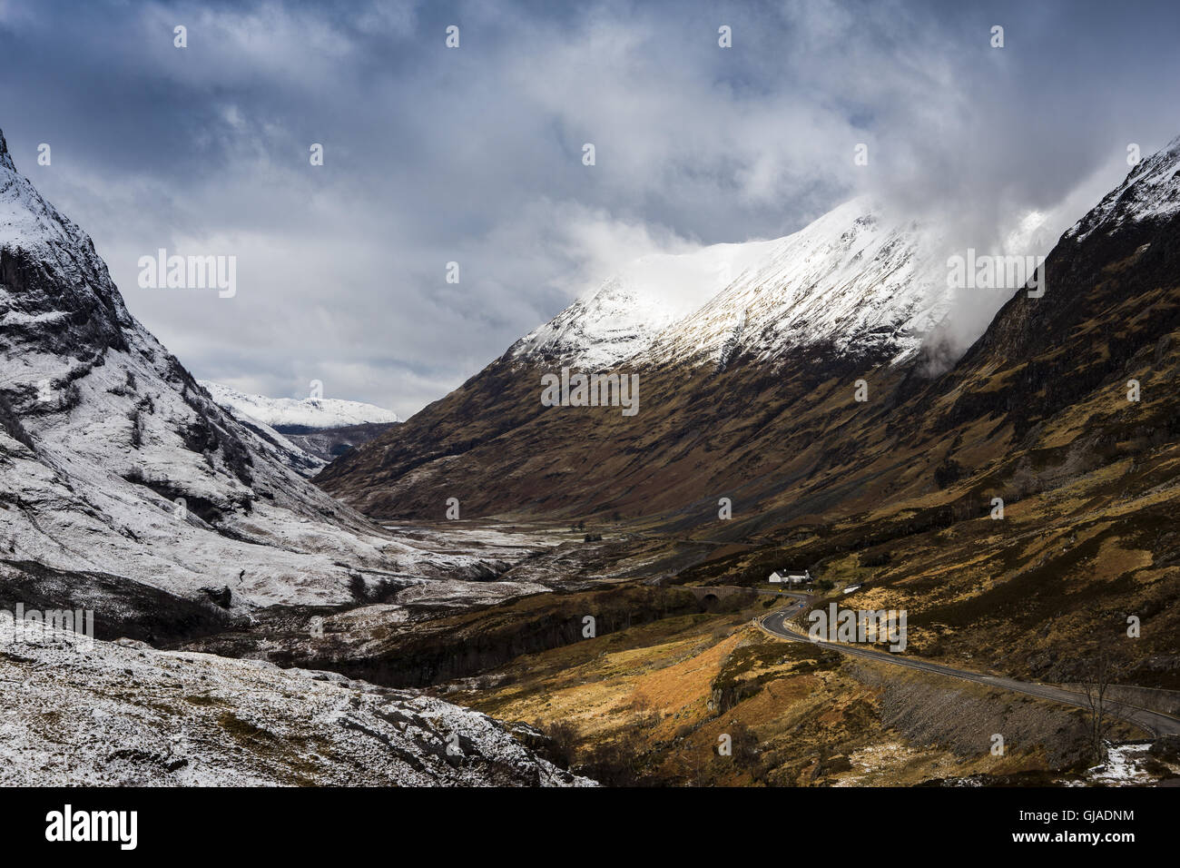 Winters view of to Glrencoe - Stock Image