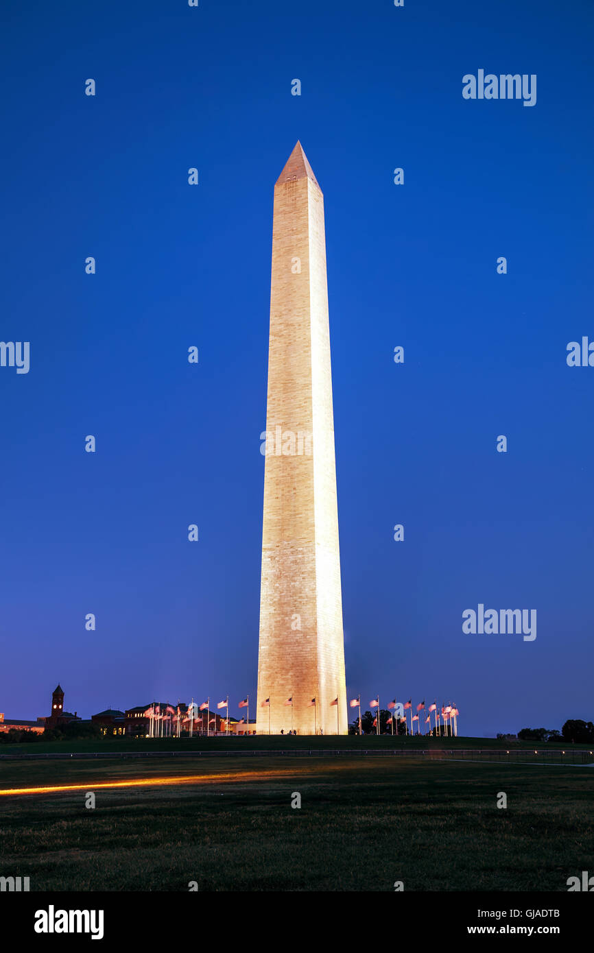 Washington, DC cityscape in the evening - Stock Image