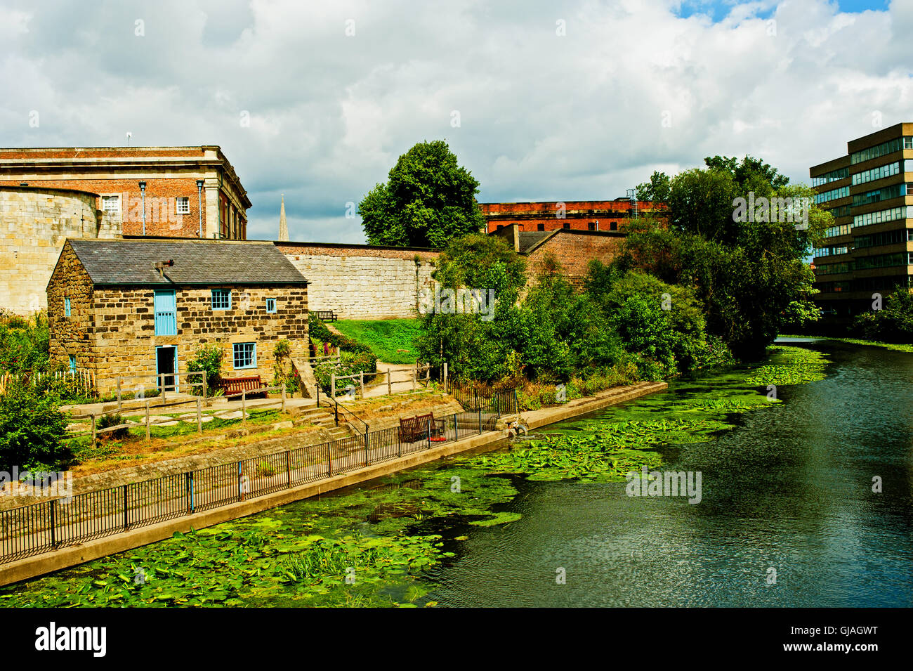 Grain Mill and River Foss, York - Stock Image