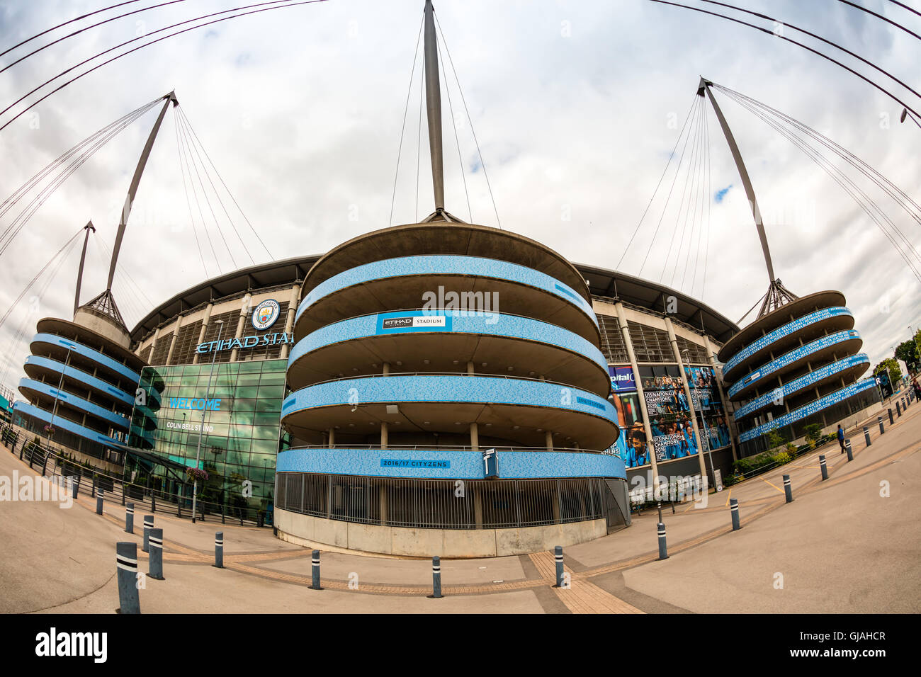 Etihad stadium is home to Manchester City English Premier League football club, one of the most successful clubs - Stock Image