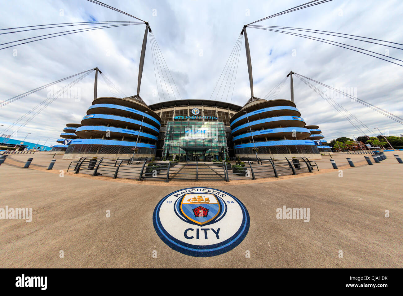 Etihad stadium is home to Manchester City English Premier League football club, one of the most successful clubs Stock Photo