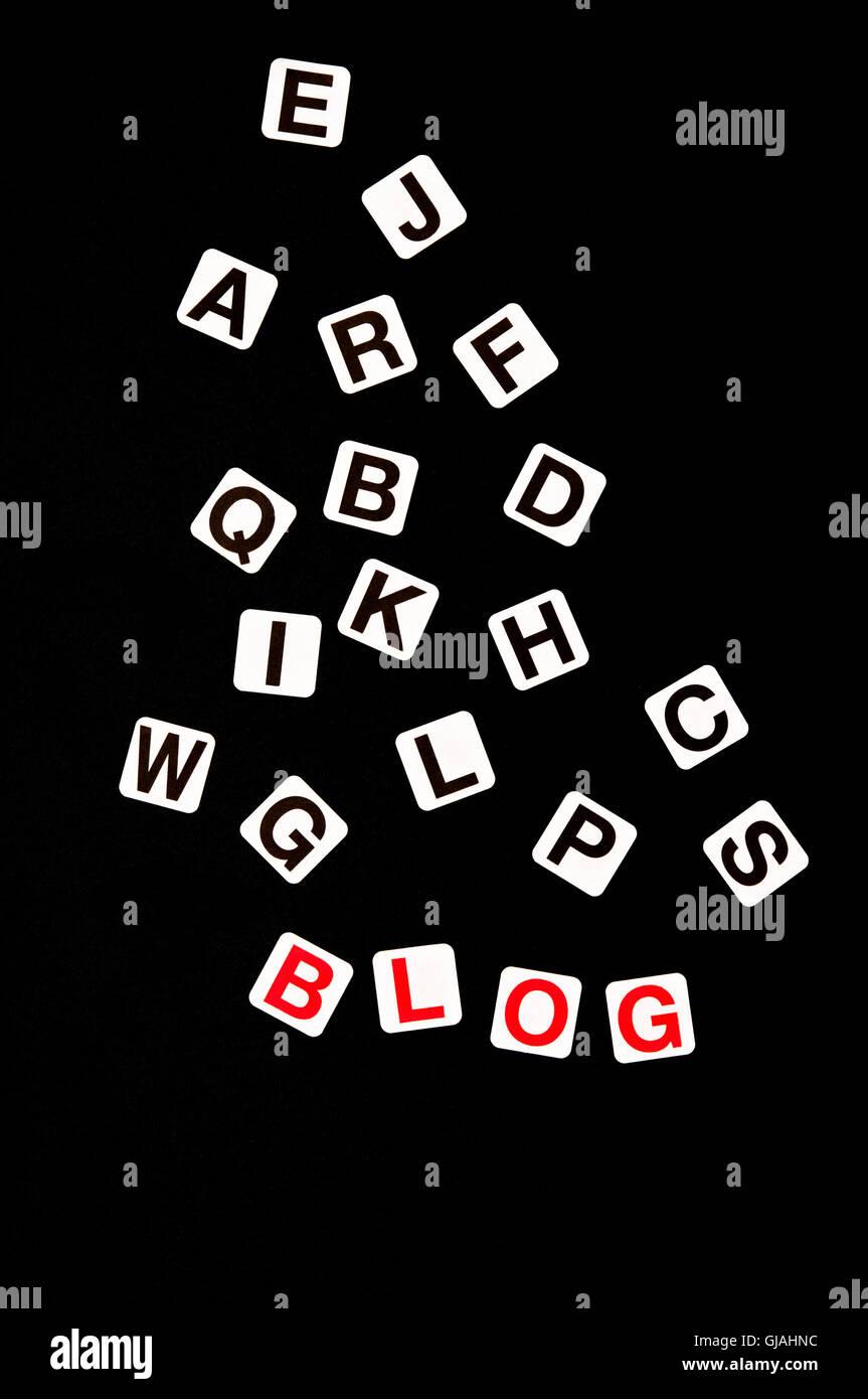 blog concept - Stock Image