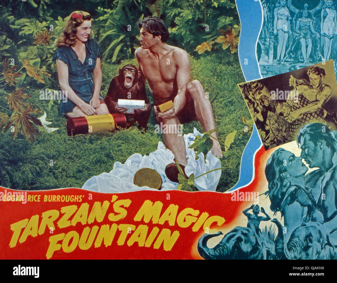 Tarzan's Magic Fountain, aka: Tarzan und das blaue Tal, USA 1949, Regie: Lee Sholem, Darsteller: Brenda Joyce, - Stock Image