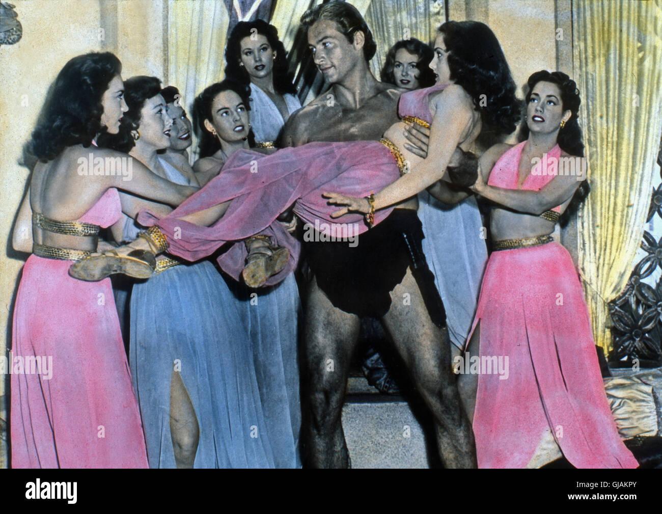 Tarzan And The Slave Girl, aka: Tarzan und das Sklavenmädchen, USA 1950, Regie: Lee Sholem, Darsteller: Lex - Stock Image