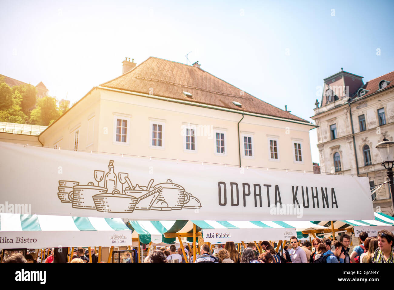 Food market in Ljubljana Stock Photo: 114562139 - Alamy
