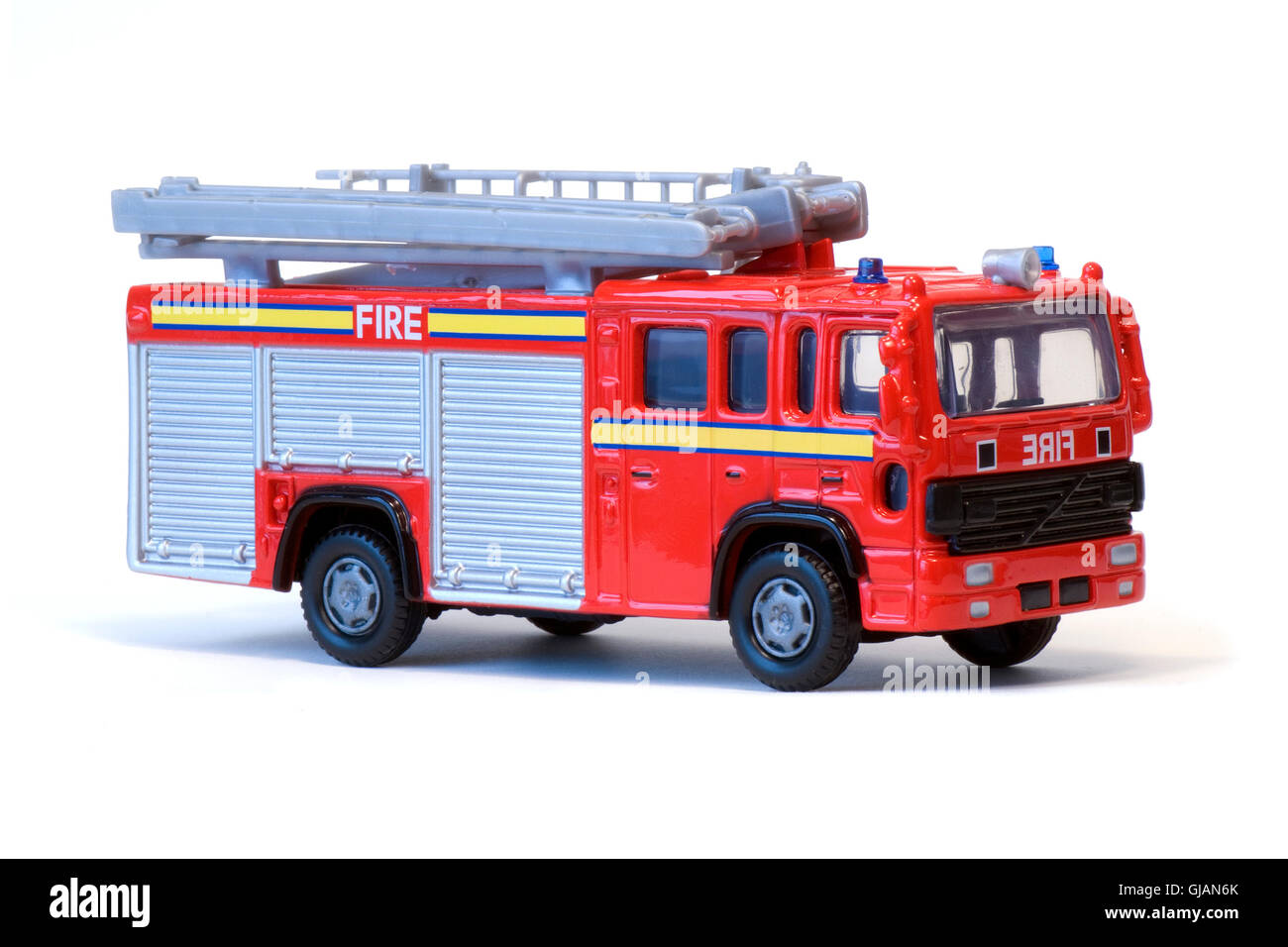 A red toy fire engine. Stock Photo