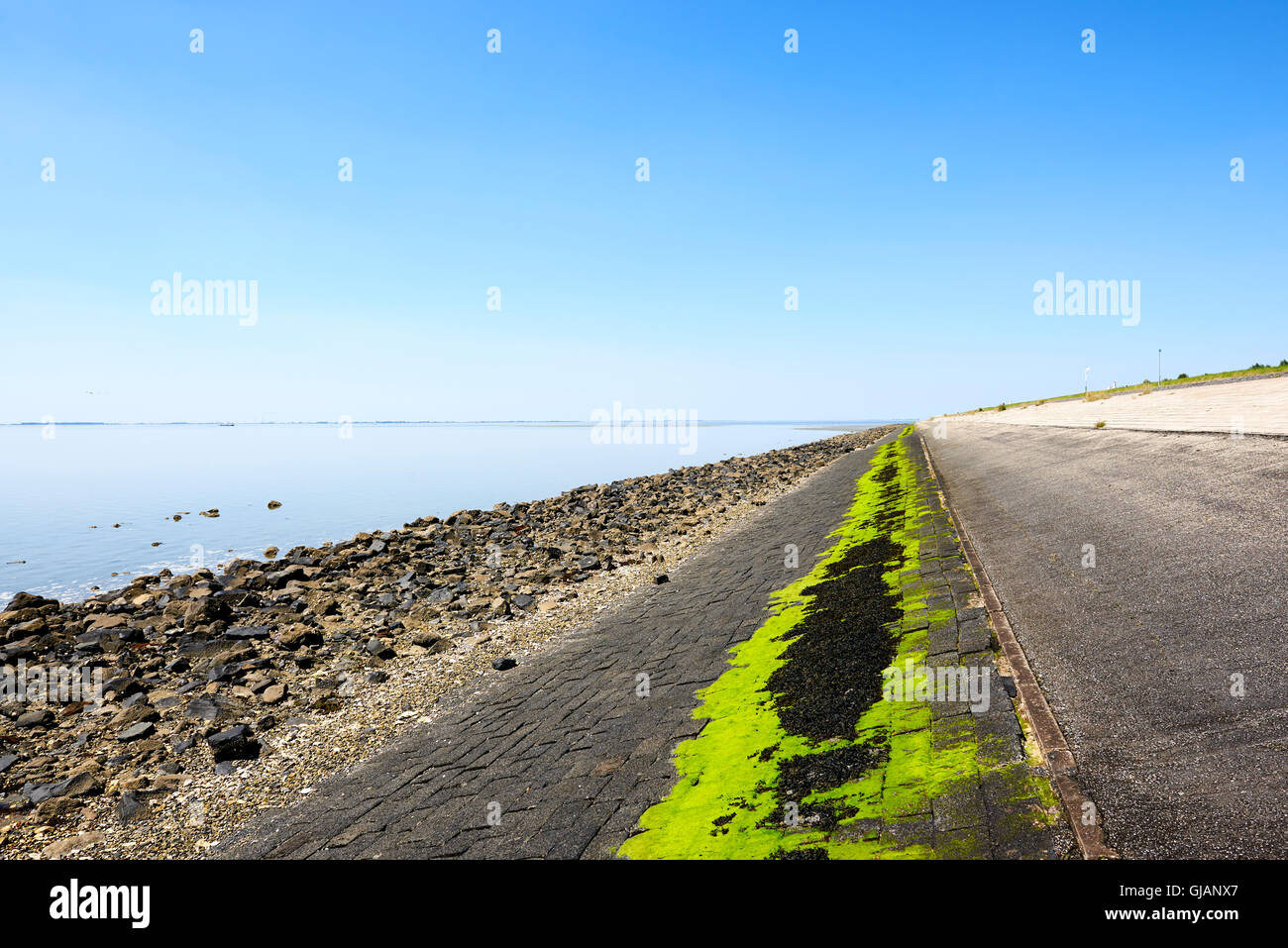 Oesterdam (Oysterdam), the longest dam of the Delta Works in the Netherlands - Stock Image