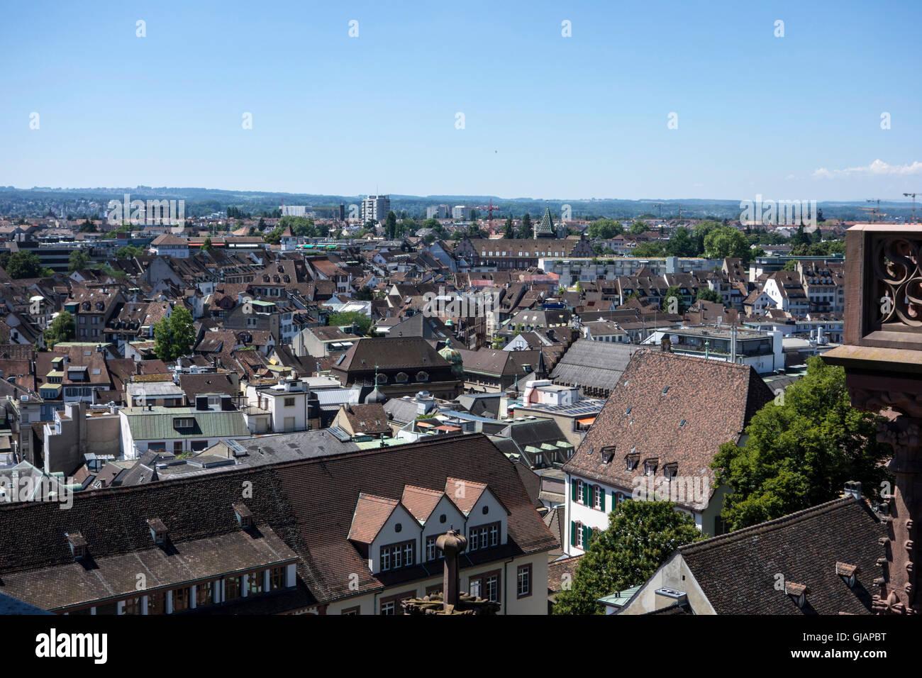 Basel cityscape - Stock Image