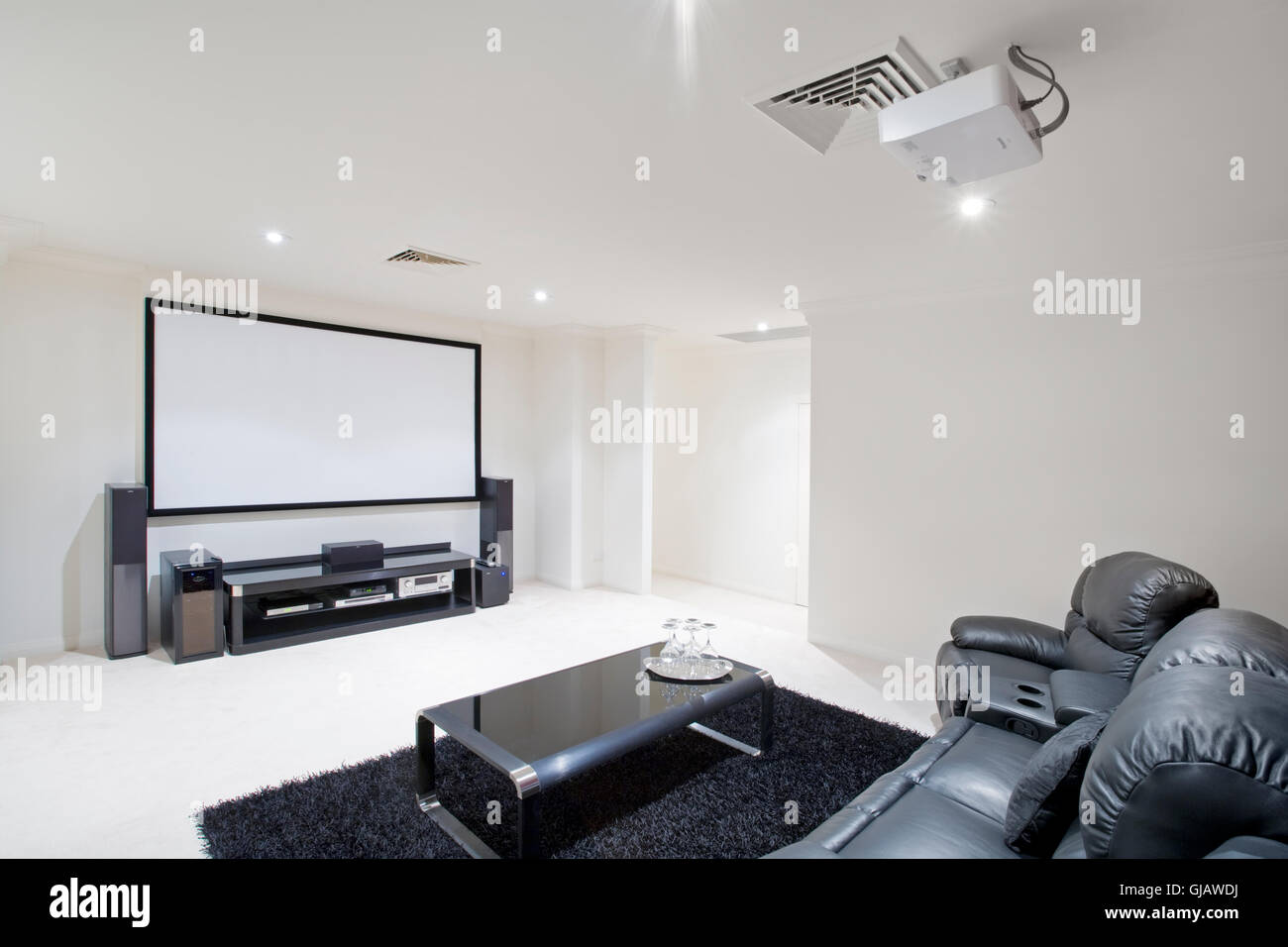 Home Theatre Room Stock Photo: 114565518 - Alamy