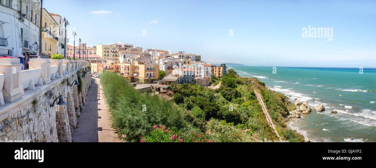 Mediterranean maquis  rodi garganico apulia italy gargano panoramic - Stock Image